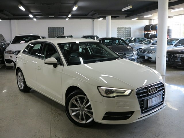 Used Audi A3 8V Attraction Sportback S Tronic, 2014 Audi A3 8V Attraction Sportback S Tronic White 7 Speed Sports Automatic Dual Clutch Hatchback