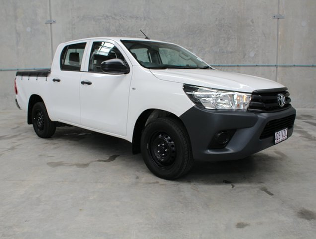 Used Toyota Hilux TGN121R Workmate Double Cab 4x2, 2015 Toyota Hilux TGN121R Workmate Double Cab 4x2 White 6 speed Automatic Utility