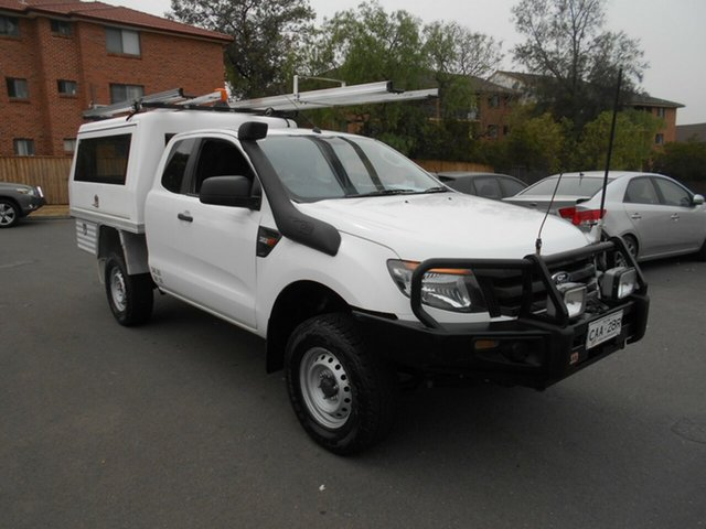 Used Ford Ranger PX XL 3.2 (4x4), 2012 Ford Ranger PX XL 3.2 (4x4) White 6 Speed Manual Super Cab Chassis