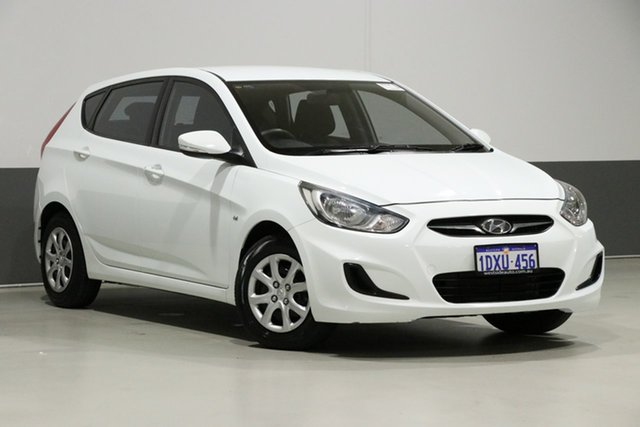 Used Hyundai Accent RB Active, 2012 Hyundai Accent RB Active White 5 Speed Manual Hatchback