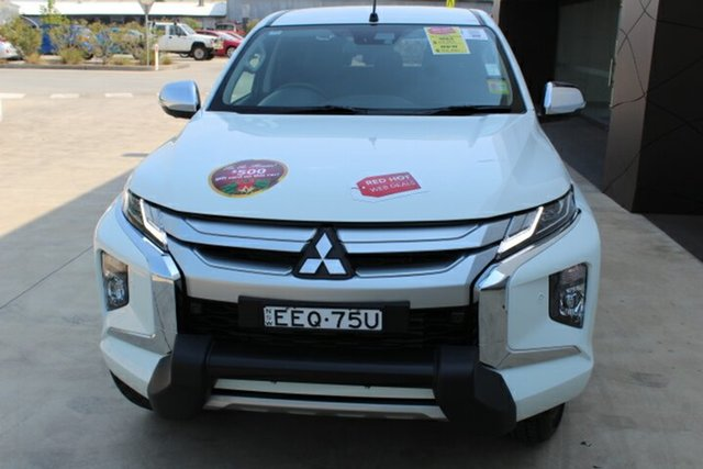Demo Mitsubishi Triton MR MY19 GLS Double Cab Premium, 2019 Mitsubishi Triton MR MY19 GLS Double Cab Premium White 6 Speed Sports Automatic Utility