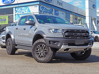 2018 Ford Ranger PX MkIII 2019.00MY Raptor Pick-up Double Cab Grey 10 Speed Sports Automatic Utility.