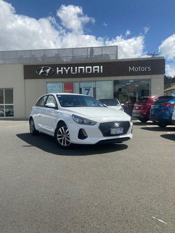 Demo Hyundai i30 PD2 MY20 Active, 2019 Hyundai i30 PD2 MY20 Active Polar White 6 Speed Sports Automatic Hatchback