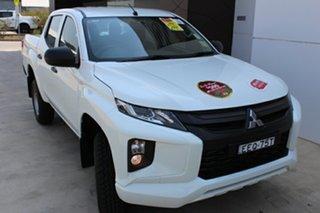 2019 Mitsubishi Triton MR MY19 GLX Double Cab White 6 Speed Manual Utility.