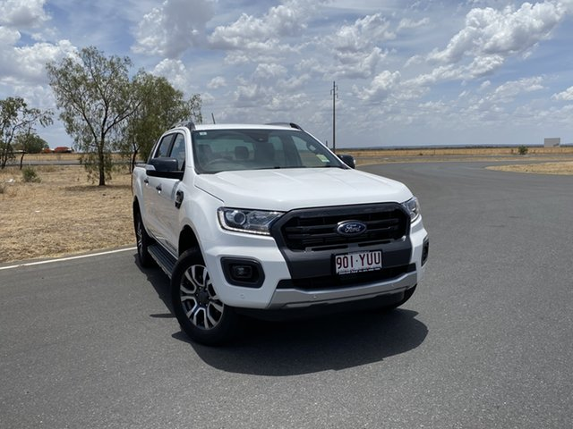 Used Ford Ranger PX MkIII 2019.00MY Wildtrak Pick-up Double Cab, 2019 Ford Ranger PX MkIII 2019.00MY Wildtrak Pick-up Double Cab Arctic White 6 Speed