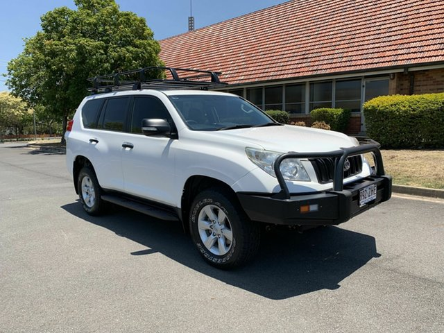 Used Toyota Landcruiser Prado KDJ150R GX, 2011 Toyota Landcruiser Prado KDJ150R GX White 6 Speed Manual Wagon