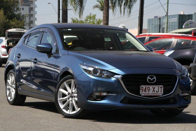 Used Mazda 3 BN5438 SP25 SKYACTIV-Drive, 2017 Mazda 3 BN5438 SP25 SKYACTIV-Drive Eternal Blue/std 6 Speed Sports Automatic Hatchback