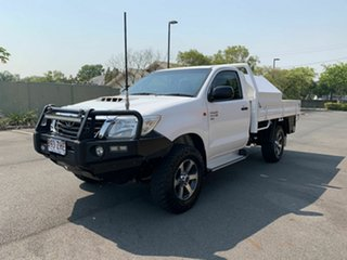 2013 Toyota Hilux KUN26R SR White 5 Speed Manual Single Cab