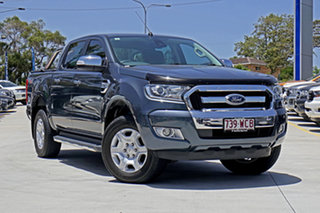 2015 Ford Ranger PX MkII XLT Double Cab Metropolitan Grey 6 Speed Sports Automatic Utility.