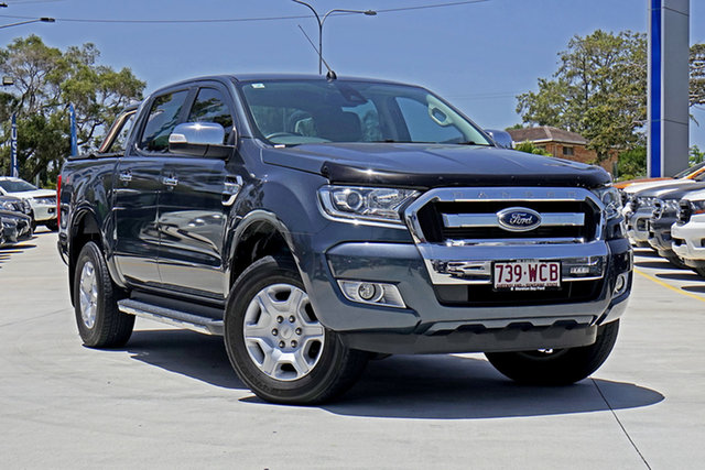 Used Ford Ranger PX MkII XLT Double Cab, 2015 Ford Ranger PX MkII XLT Double Cab Metropolitan Grey 6 Speed Sports Automatic Utility