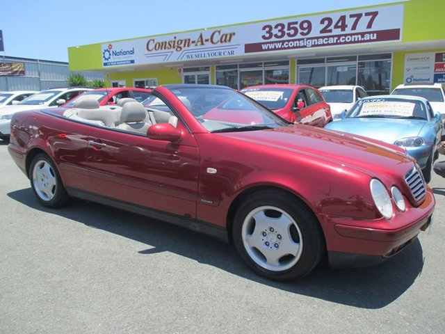 Used Mercedes-Benz CLK-Class A208 CLK230 Kompressor Elegance, 1998 Mercedes-Benz CLK-Class A208 CLK230 Kompressor Elegance Red 5 Speed Automatic Cabriolet