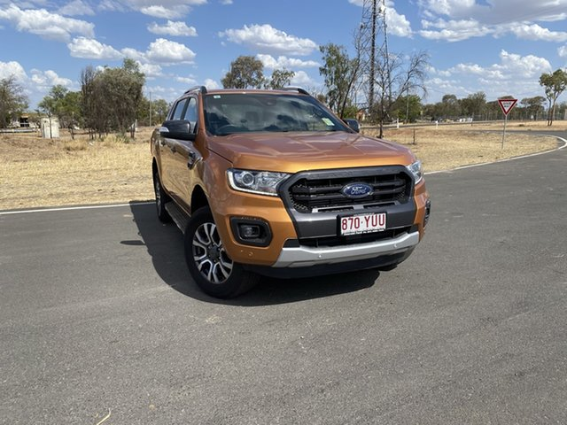 Used Ford Ranger PX MkIII 2019.00MY Wildtrak Pick-up Double Cab, 2019 Ford Ranger PX MkIII 2019.00MY Wildtrak Pick-up Double Cab Saber 6 Speed Sports Automatic