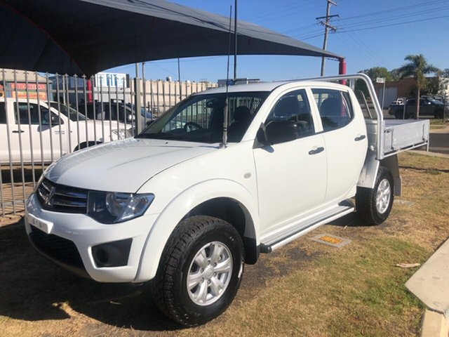 Used Mitsubishi Triton MN MY15 GLX (4x4), 2014 Mitsubishi Triton MN MY15 GLX (4x4) White 5 Speed Manual 4x4 Double Cab Utility