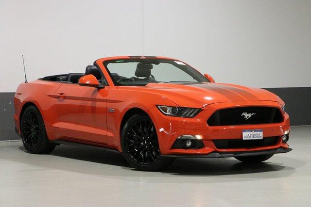 Used Ford Mustang FM GT 5.0 V8, 2016 Ford Mustang FM GT 5.0 V8 Competition Orange 6 Speed Automatic Convertible