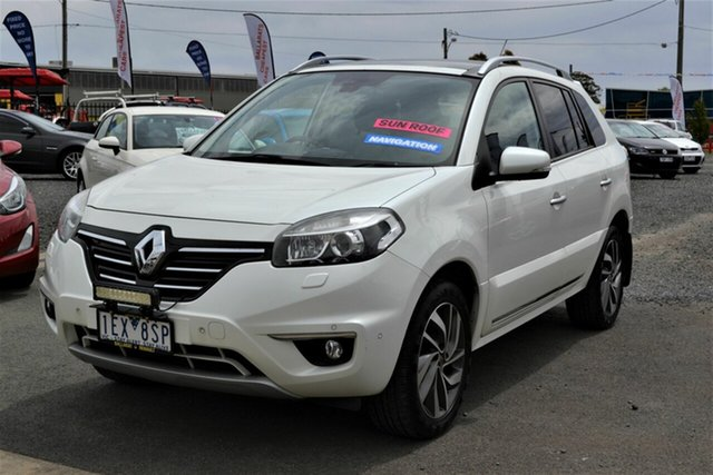 Used Renault Koleos H45 Phase II Privilege (4x4), 2013 Renault Koleos H45 Phase II Privilege (4x4) White Continuous Variable Wagon