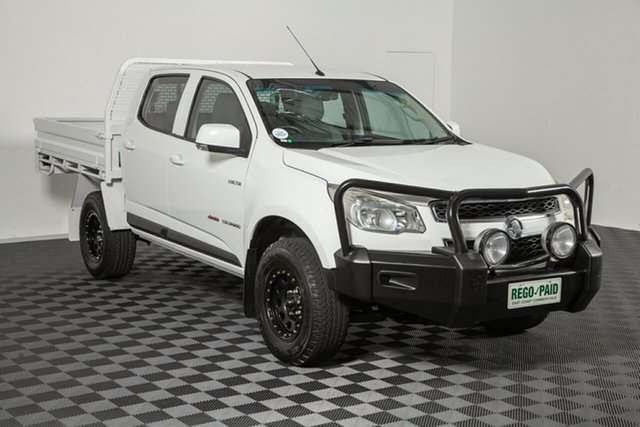 Used Holden Colorado RG MY13 LX Crew Cab, 2013 Holden Colorado RG MY13 LX Crew Cab White 6 speed Automatic Cab Chassis