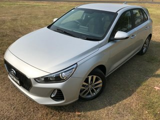 2018 Hyundai i30 PD MY18 Active D-CT Platinum Silver 7 Speed Sports Automatic Dual Clutch Hatchback.
