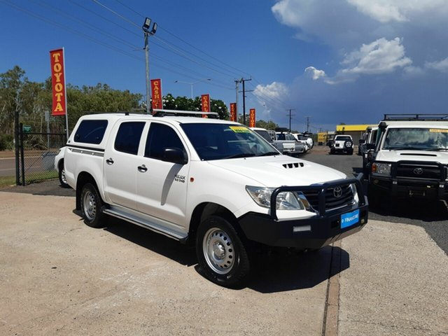 Used Toyota Hilux KUN26R MY14 SR Double Cab, 2014 Toyota Hilux KUN26R MY14 SR Double Cab White 5 Speed Manual Utility