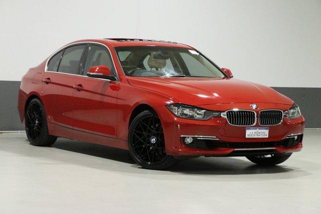 Used BMW 328i F30 Luxury Line, 2013 BMW 328i F30 Luxury Line Flamenco Red 8 Speed Automatic Sedan