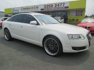 2006 Audi A6 4F Tiptronic Quattro White 6 Speed Sports Automatic Sedan.