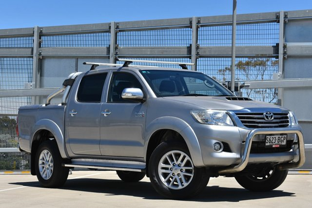 Used Toyota Hilux KUN26R MY14 SR5 Double Cab, 2015 Toyota Hilux KUN26R MY14 SR5 Double Cab Silver 5 Speed Automatic Utility