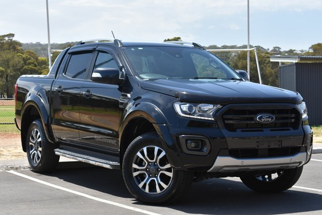 Used Ford Ranger PX MkIII 2019.00MY Wildtrak Pick-up Double Cab, 2018 Ford Ranger PX MkIII 2019.00MY Wildtrak Pick-up Double Cab Black 10 Speed Sports Automatic