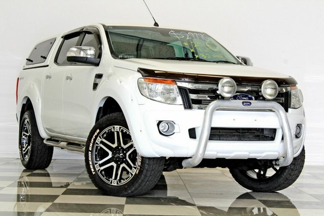 Used Ford Ranger PX XLT 3.2 Hi-Rider (4x2), 2014 Ford Ranger PX XLT 3.2 Hi-Rider (4x2) White 6 Speed Automatic Crew Cab Pickup
