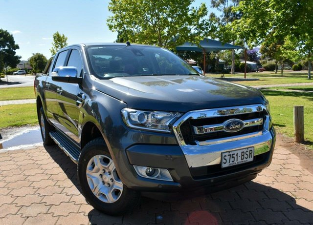 Used Ford Ranger PX MkII XLT Double Cab, 2017 Ford Ranger PX MkII XLT Double Cab Grey 6 Speed Manual Utility