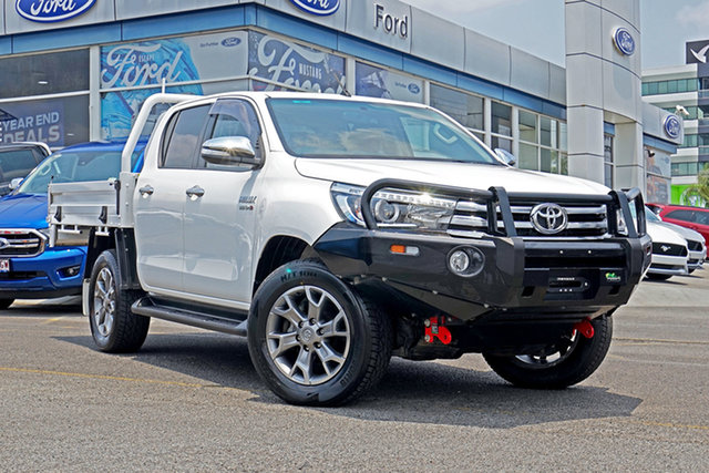 Used Toyota Hilux GUN126R SR5 Double Cab, 2017 Toyota Hilux GUN126R SR5 Double Cab White 6 Speed Manual Utility