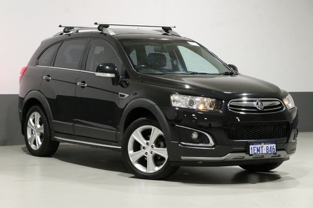 Used Holden Captiva CG MY14 7 LTZ (AWD), 2014 Holden Captiva CG MY14 7 LTZ (AWD) Black 6 Speed Automatic Wagon