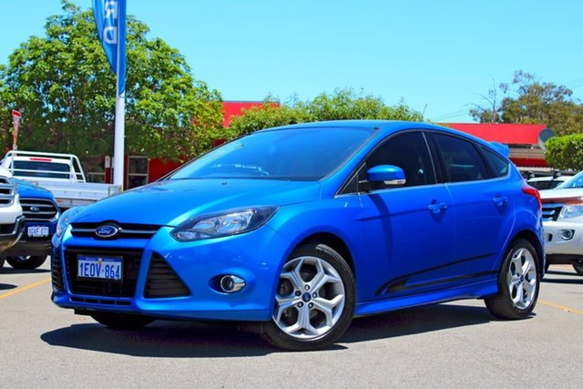 Used Ford Focus LW MkII MY14 Sport PwrShift, 2014 Ford Focus LW MkII MY14 Sport PwrShift Blue 6 Speed Sports Automatic Dual Clutch Hatchback