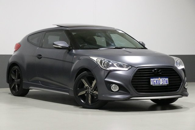 Used Hyundai Veloster FS MY13 SR Turbo, 2013 Hyundai Veloster FS MY13 SR Turbo Grey 6 Speed Manual Coupe