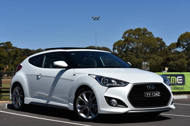 Used Hyundai Veloster FS4 Series II SR Coupe D-CT Turbo +, 2016 Hyundai Veloster FS4 Series II SR Coupe D-CT Turbo + White 7 Speed Sports Automatic Dual Clutch