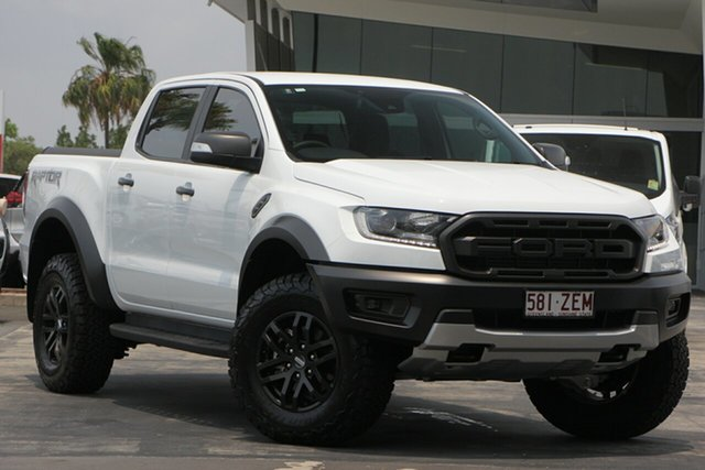 Used Ford Ranger PX MkIII 2019.00MY Raptor Pick-up Double Cab, 2018 Ford Ranger PX MkIII 2019.00MY Raptor Pick-up Double Cab White 10 Speed Sports Automatic