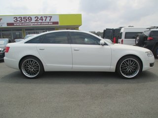 2006 Audi A6 4F Tiptronic Quattro White 6 Speed Sports Automatic Sedan