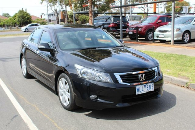 Used Honda Accord 50 V6 Luxury, 2008 Honda Accord 50 V6 Luxury Black 5 Speed Automatic Sedan