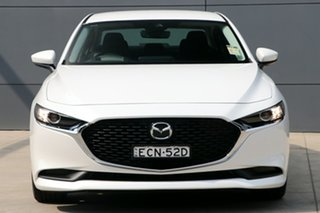 2020 Mazda 3 BP G20 Evolve Snowflake White Pearl 6 Speed Automatic Sedan