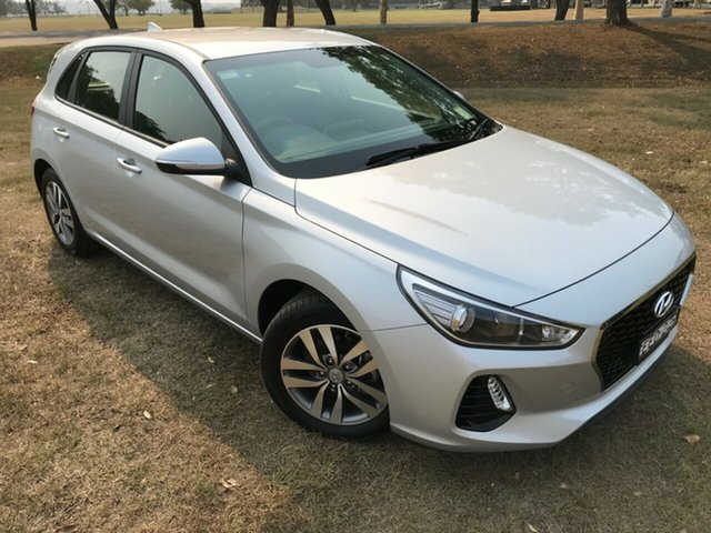 Demo Hyundai i30 PD MY18 Active, 2018 Hyundai i30 PD MY18 Active Platinum Silver 6 Speed Sports Automatic Hatchback