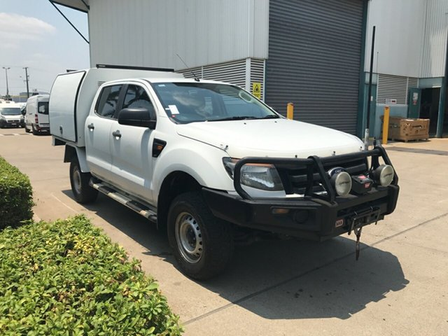 Used Ford Ranger PX XL Double Cab, 2012 Ford Ranger PX XL Double Cab White 6 speed Automatic Cab Chassis