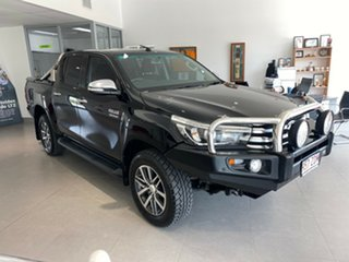 2016 Toyota Hilux GUN126R SR5 Double Cab Black 6 Speed Sports Automatic Utility.