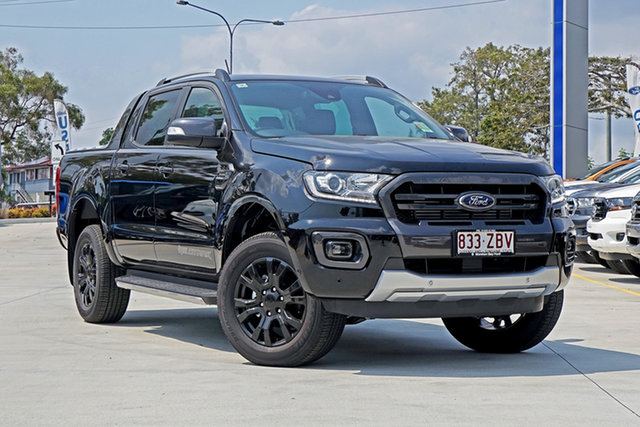 Used Ford Ranger PX MkIII 2019.75MY Wildtrak Pick-up Double Cab, 2019 Ford Ranger PX MkIII 2019.75MY Wildtrak Pick-up Double Cab Black 10 Speed Sports Automatic