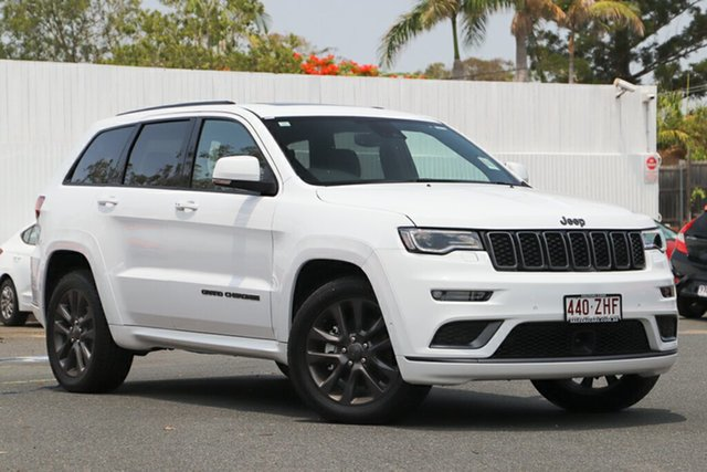 Used Jeep Grand Cherokee WK MY19 S-Overland, 2018 Jeep Grand Cherokee WK MY19 S-Overland Bright White 8 Speed Sports Automatic Wagon