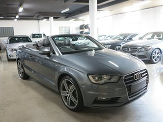 2014 Audi A3 8V MY15 Ambition S Tronic Grey 7 Speed Sports Automatic Dual Clutch Cabriolet.