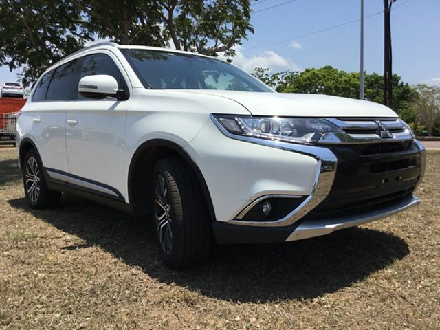 Used Mitsubishi Outlander ZL MY19 LS 7 Seat (AWD), 2018 Mitsubishi Outlander ZL MY19 LS 7 Seat (AWD) White Continuous Variable Wagon