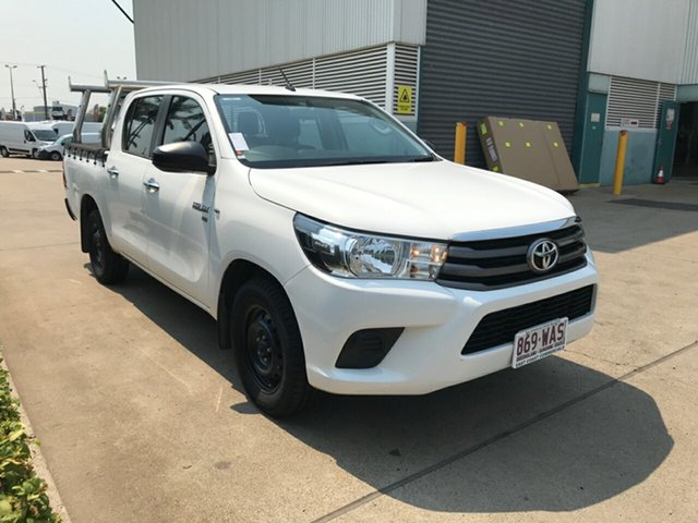 Used Toyota Hilux GGN120R SR Double Cab 4x2, 2015 Toyota Hilux GGN120R SR Double Cab 4x2 White 6 speed Automatic Utility