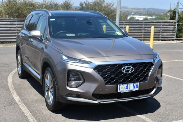 Demo Hyundai Santa Fe TM MY19 Highlander, 2018 Hyundai Santa Fe TM MY19 Highlander Tan Brown 8 Speed Sports Automatic Wagon