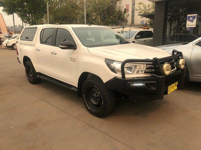 Used Toyota Hilux GUN126R SR (4x4), 2015 Toyota Hilux GUN126R SR (4x4) White 6 Speed Manual Dual Cab Utility