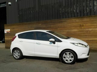2010 Ford Fiesta WS CL White 4 Speed Automatic Hatchback.