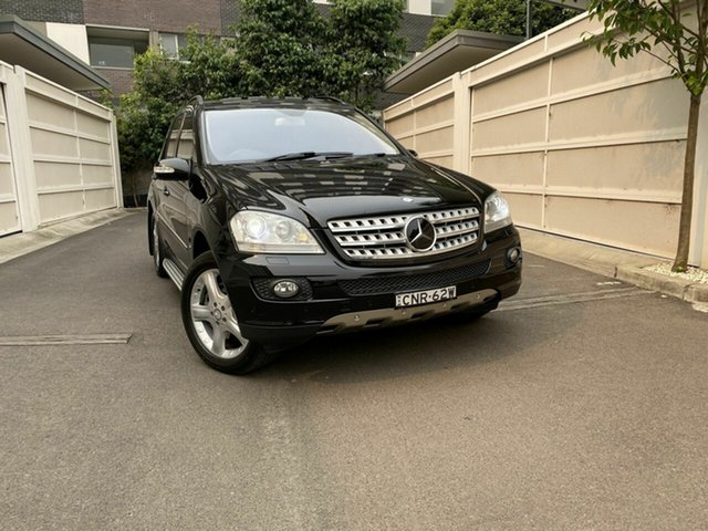 Used Mercedes-Benz M-Class W164 MY08 ML500 Luxury, 2008 Mercedes-Benz M-Class W164 MY08 ML500 Luxury Black 7 Speed Sports Automatic Wagon