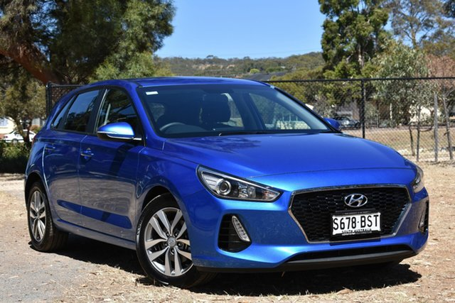 Used Hyundai i30 PD MY18 Active D-CT, 2017 Hyundai i30 PD MY18 Active D-CT Blue 7 Speed Sports Automatic Dual Clutch Hatchback